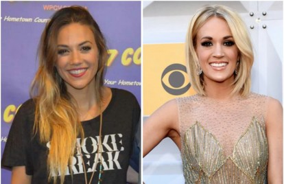 Jana Kramer Sports Carrie Underwood 'Smoke Break' Tee