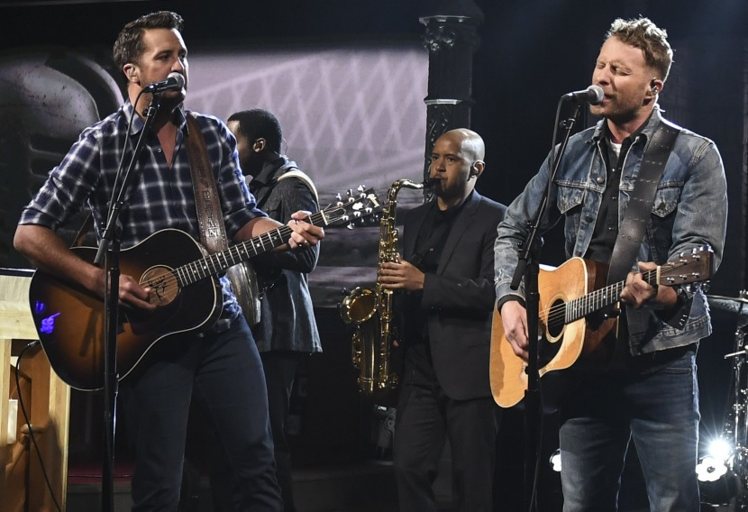 Luke Bryan and Dierks Bentley Talk ACMs, Honor Merle Haggard on 'The Late Show'