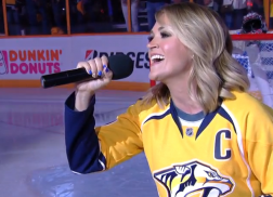 Carrie Underwood Stuns with National Anthem Performance Ahead of NHL Playoff Game