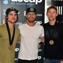 Pictured (l-r): Ross Copperman, Dierks Bentley, Ashley Gorley; Photo provided by ASCAP