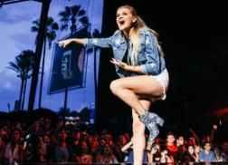 Get The Look: Kelsea Ballerini's Flower Ankle Booties