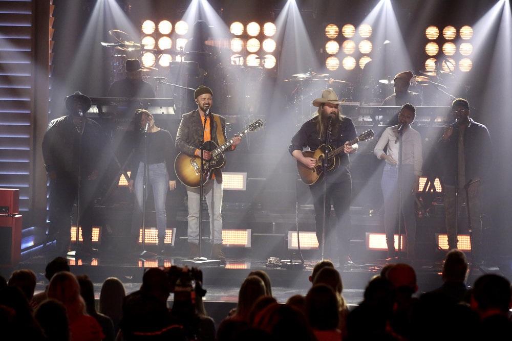 Chris Stapleton and Justin Timberlake Jam on 'Say Something' After Super Bowl
