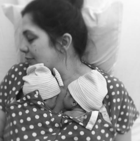 Hillary Scott Celebrates Her Twins' Seven-Week Birthday