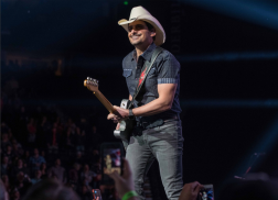 Brad Paisley Gifted with Pet Goat from Dustin Lynch at Nashville Tour Stop
