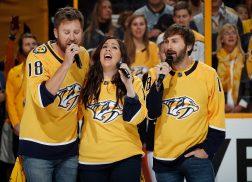 Lady Antebellum Takes On National Anthem at Nashville Predators Game
