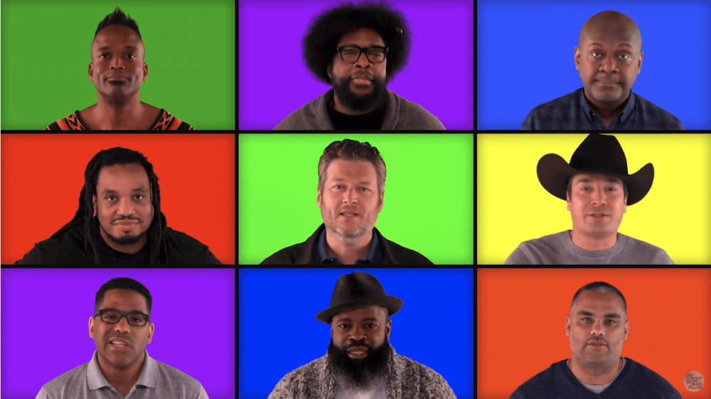 'The Voice' Coaches Go A Cappella With Jimmy Fallon and The Roots