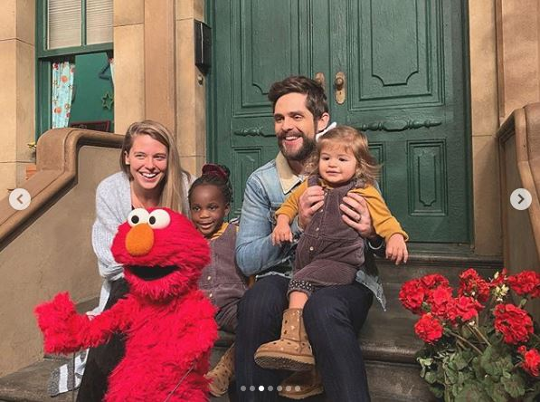 Thomas Rhett's Family Visits Sesame Street